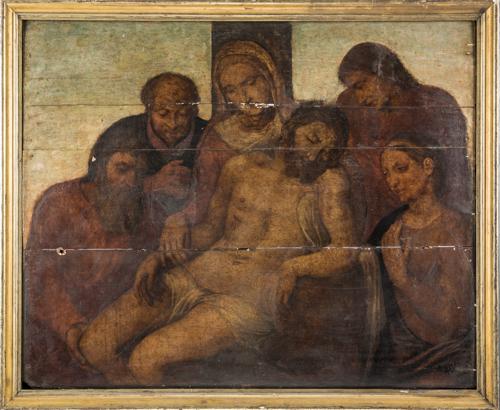 Scuola Veneto Cretese del XVI secolo | Deposizione di Cristo | The Entombment of Christ
