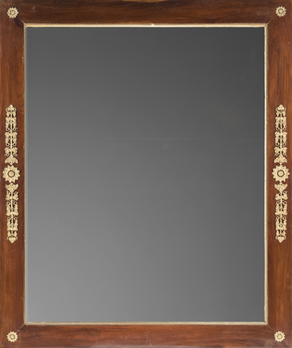 | Antica specchiera | Antique mirror in mahogany frame