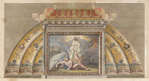 | Serie di sette incisioni acquerellate Logge di Raffaello | Raphael's Lodges Engravings