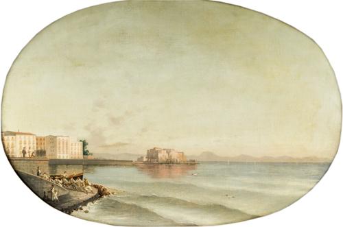 Pittore del XIX secolo | Veduta del Golfo di Napoli | View of the Gulf of Naples