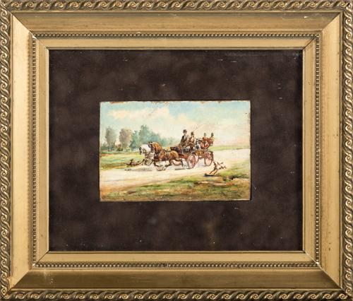 Francesco Mancini detto Lord (Napoli 1830, Napoli 1905) | Passeggiata in Carrozza | Carriage Trip
