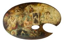 Hans Zatzka (Vienna 1859, Vienna 1945) | La tavolozza del pittore | The painter's palette