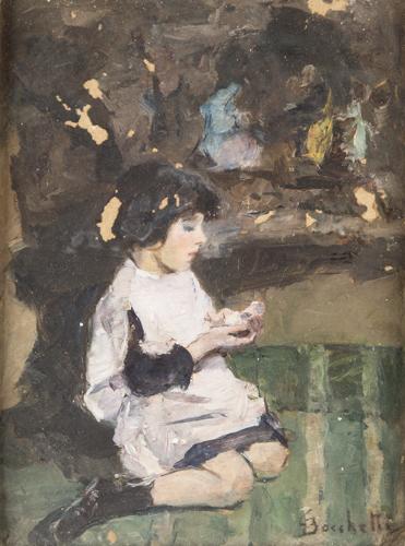 Gaetano Bocchetti (Napoli 1888, Napoli 1990) | Ritratto di Bambina |