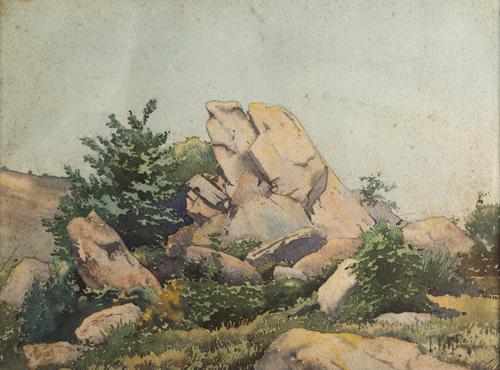 Filiberto Petiti (Torino 1845, Roma 1924) | Paesaggio |