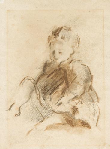 Pittore del XIX secolo | Studio di fanciulla |