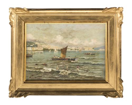 Raimondo Scoppa (Napoli 1820, Napoli 1890) | Golfo di Napoli |