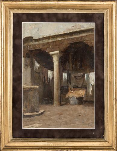 Pio Joris (Roma 1843, Roma 1921) | Interno di cortile |