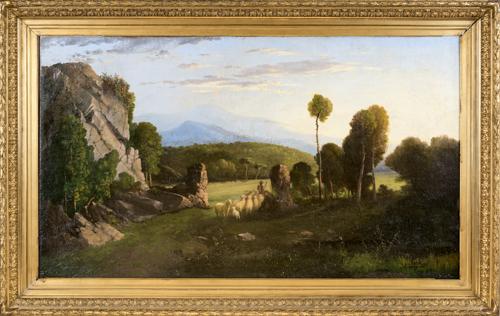 Jean Achille Benouville (Parigi 1815, Parigi 1891) | Campagna Romana | Roman Landscape