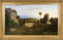 Jean Achille Benouville (Parigi 1815, Parigi 1891)   Campagna Romana   Roman Landscape