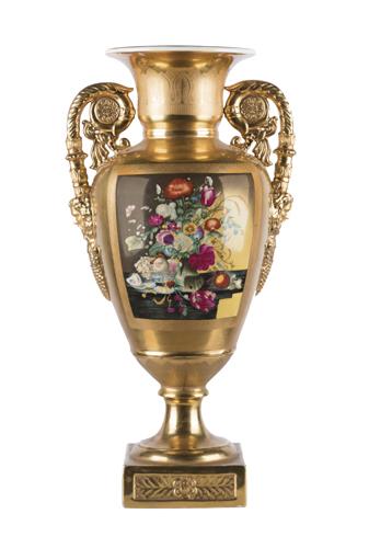 | Vaso Impero in porcellana, XIX secolo | Emperor Vase, XIX century