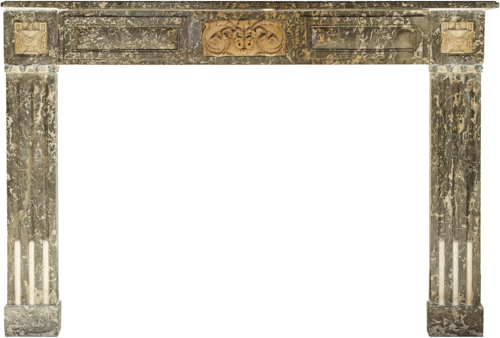 | Antico camino in marmo Parigi fine XIX secolo | Antique Parisienne Late Nineteenth Century Marble Fireplace