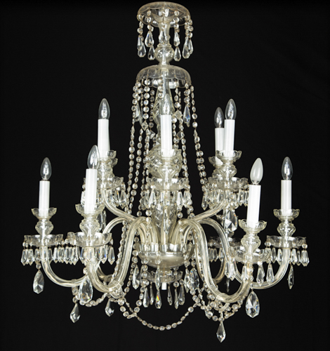 | Lampadario in cristallo a dodici luci | Italian Crystal chandelier with twelve lights