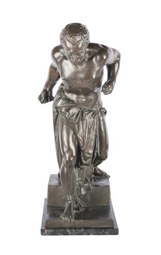 Vincenzo Vela (Ligornetto 1820, Mendrisio 1891) | Scultura in bronzo brunito raffigurante Spartaco |  Vincenzo Vela's bronze sculpture of Spartacus