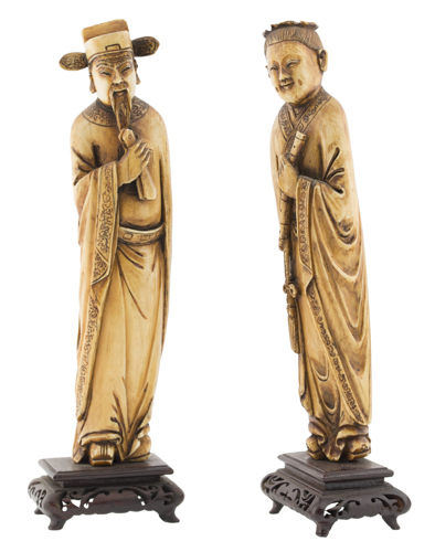 | Coppia di sculture Cinesi  XIX-XX Secolo | Couple of Chinese sculptures
