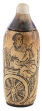   Snuff bottle in avorio Dinastia Qing    Chinese Qing Snuff bottle
