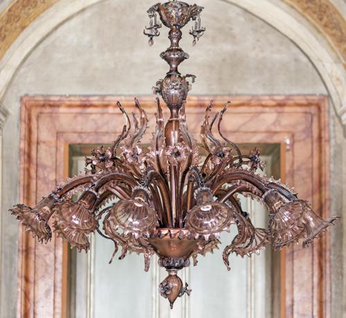| Lampadario in vetro di Murano |