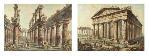 Paolo Barbazza (Attivo nel XIX Secolo) | Coppia di acquerelli |