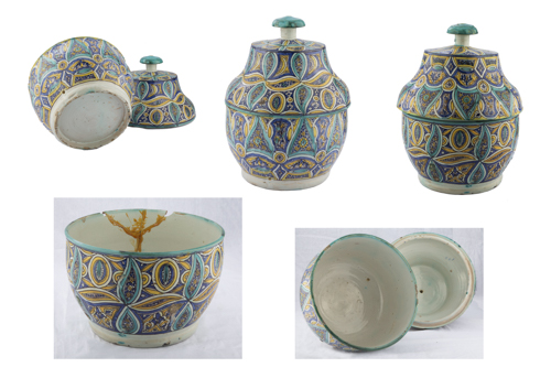 | Coppia di vasi in maiolica dipinta | A pair of painted majolica vases