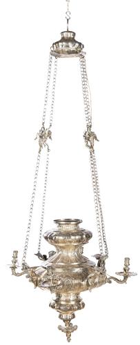 | Lucerna in argento sbalzato | Eighteenth Century Silver Lucerne