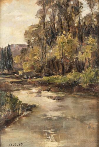 Pittore del XIX secolo | Paesaggio fluviale | River Landscape