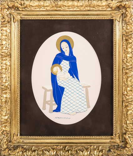 Marcello Dudovich (Trieste 1878, Milano 1962) | Madonna con Bambino |