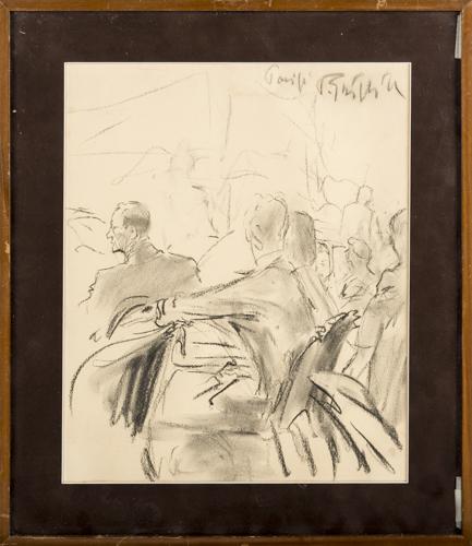 Paolo Ghiglia (Firenze 1905, Roma 1979) | Figure al concerto |