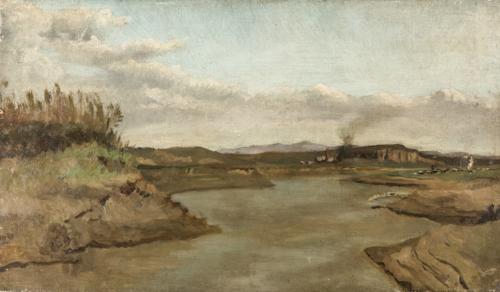 Pittore del XIX secolo | Veduta dell'Aniene |