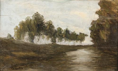 Pittore del XIX secolo | Paesaggio lacustre |