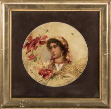 Pietro Gaudenzi (Genova 1880, Anticoli Corrado 1955)   Ritratto di fanciulla  