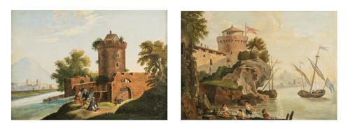 Pittore del XX secolo | Coppia di paesaggi |