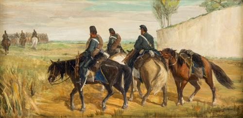 Pittore del XIX secolo | Soldati a cavallo |