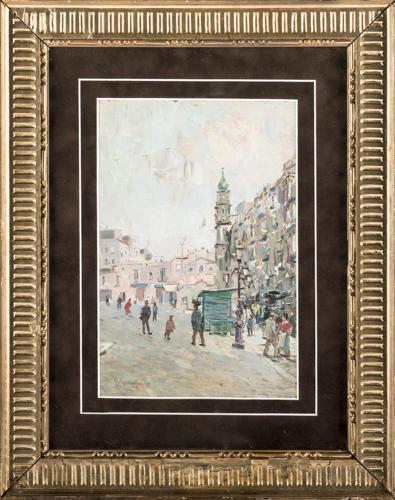 Francesco Cangiullo (Napoli 1884, Livorno 1977) | Piazza Mercato a Napoli |