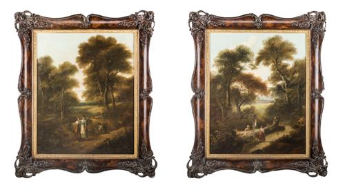 Pittore degli inizi del XIX secolo | paesaggi con figure |