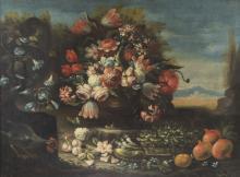 Pittore del XVIII secolo | Natura morta con fiori | Still life with flowers