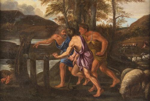 Pietro Testa (Lucca 1611, Roma 1650) | il Ritrovamento di Romolo e Remo |  Finding of Romulus and Remus