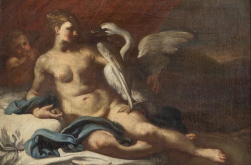 Scuola Italiana del XVII secolo   Leda e il cigno    Leda and the Swan