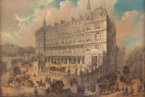 Scuola Inglese del XIX Secolo | Strada di Londra |  London street