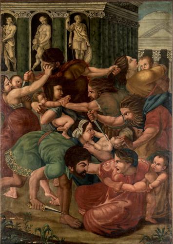 Scuola Umbra del XVII secolo | Strage degli Innocenti | Massacre of the Innocents