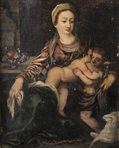 Scuola Italiana del XVIII secolo | Madonna con bambino e san Giovannino | Madonna and Child