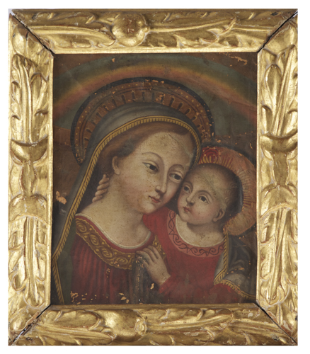 Pittore del XVIII secolo | Madonna con bambino | Madonna and Child