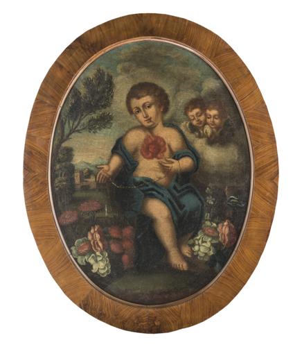 Pittore del XVIII secolo | Sacro Cuore di Gesù Bambino |  Sacred Heart of Child Jesus