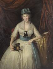 Pittore del XIX secolo   Gentildonna con cagnolino    Lady with a dog