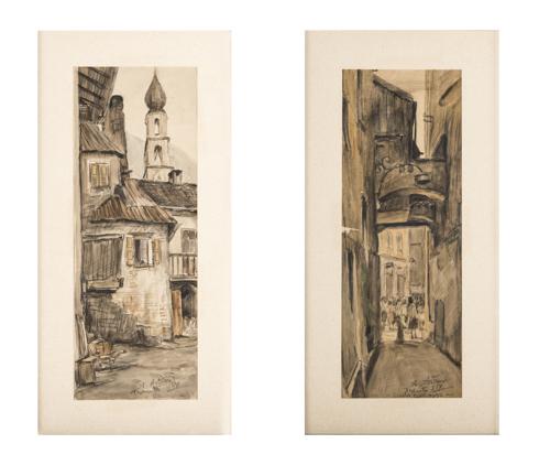 Antonio Asturi (Vico Equense 1904, Vico Equense 1986) | Scorci di Trento |  Glimpses of Trento