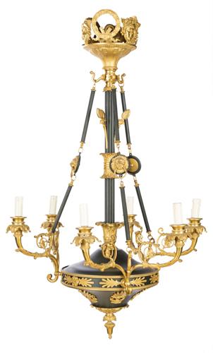 | Lampadario in stile impero a sei luci | Empire style Chandelier with six light