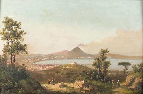 Scuola napoletana del XIX secolo | Veduta del Golfo di Napoli |  View of the Naples Bay