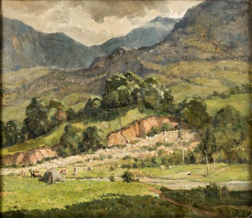 Carlo Musso (Torino 1907, Torino 1968) | Paesaggio Montano | Mountain Landscape