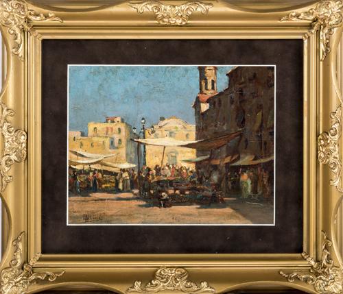 Luca Albino (Maiori 1884, Maiori 1952) | Mercato a Salerno | Salerno Market