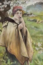 Basilio Cascella (Pescara 1860, Roma 1950)   Pastorella   Shepherdess
