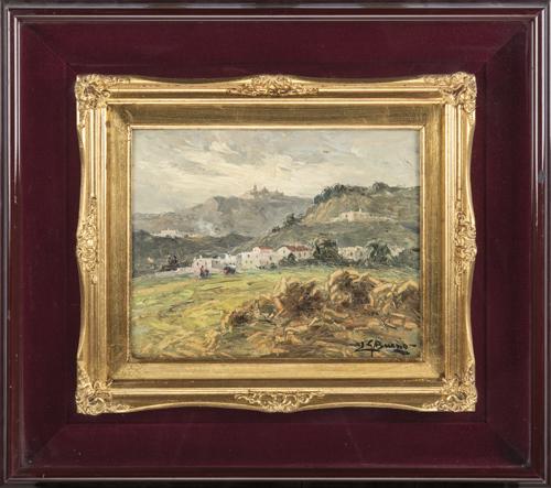 Leon Giuseppe Buono (Pozzuoli 1888, Pozzuoli 1976) | Paesaggio Napoletano | Neapolitan landscape