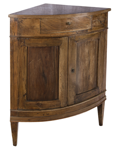 | Antica angoliera  Italia XIX secolo | Italian Nineteenth Century walnut Corner table